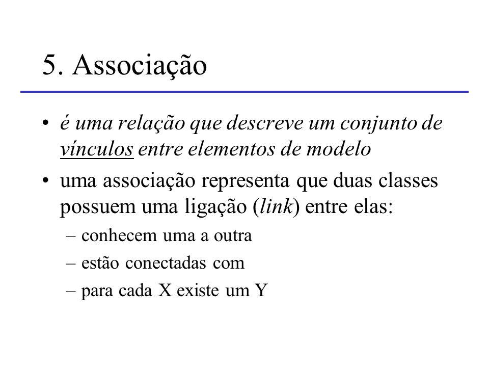 5. Associação é uma relação que descreve um conjunto de vínculos entre elementos de modelo.