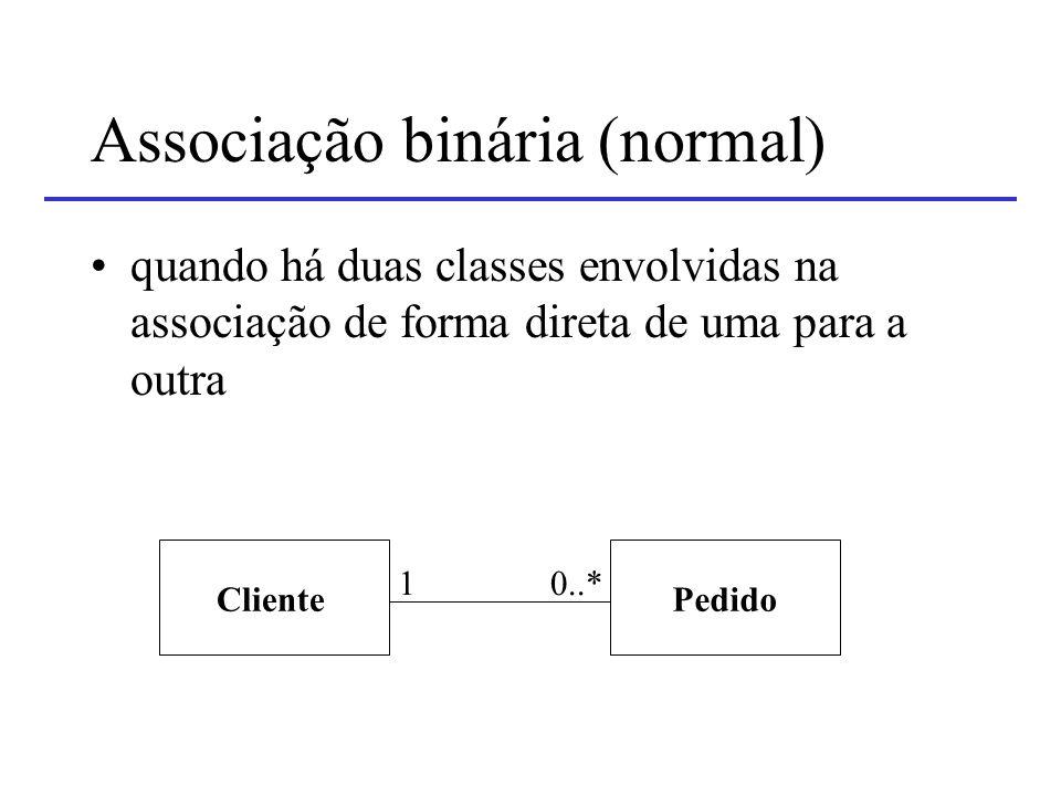 Associação binária (normal)
