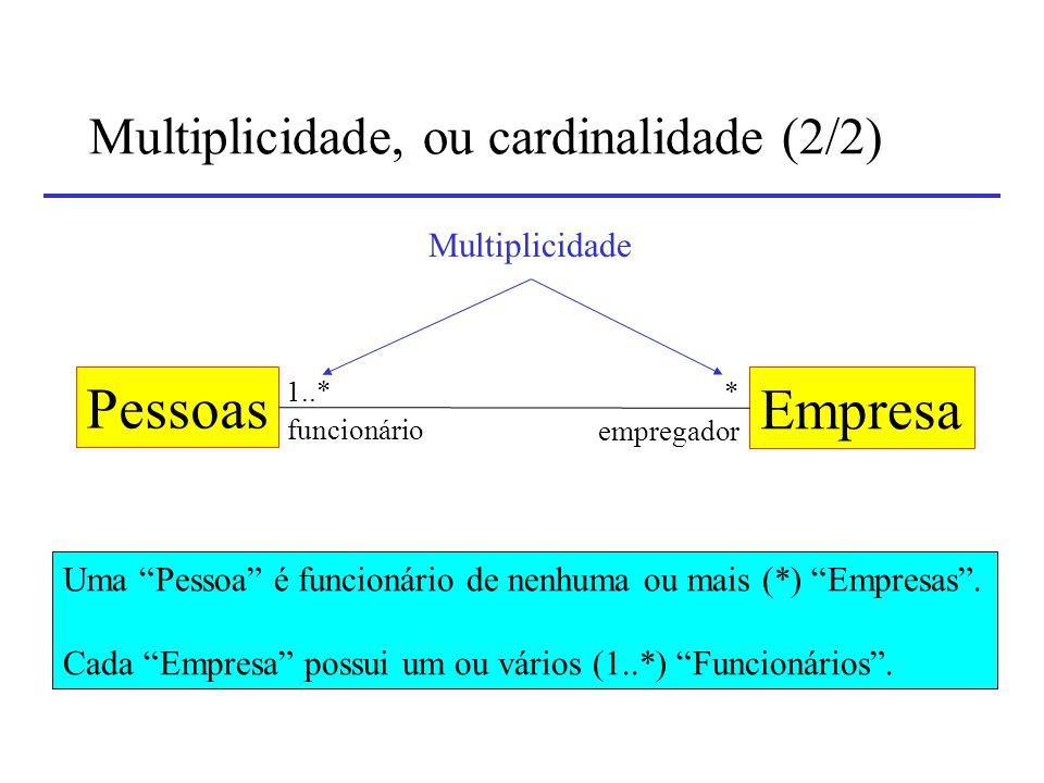 Multiplicidade, ou cardinalidade (2/2)