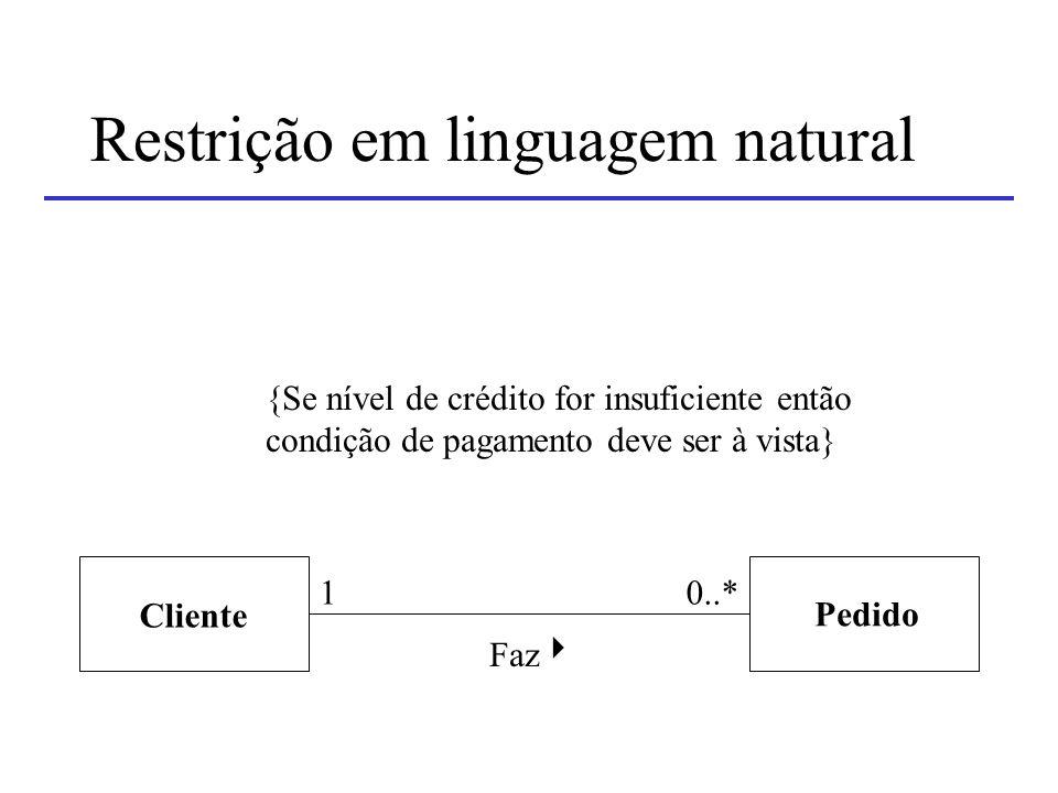 Restrição em linguagem natural