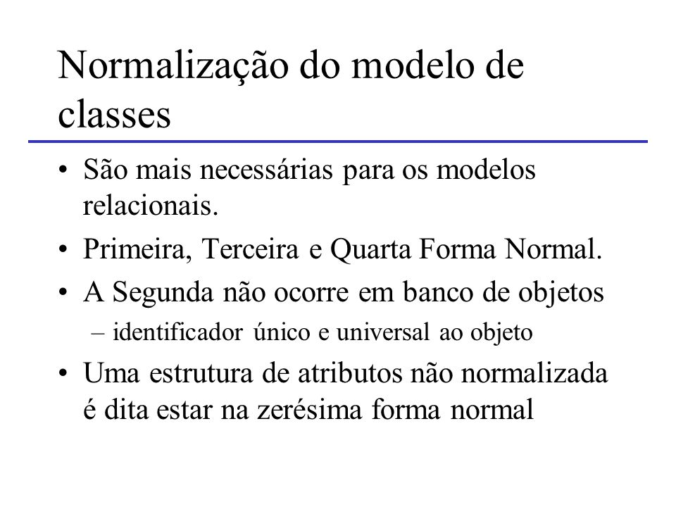 Normalização do modelo de classes