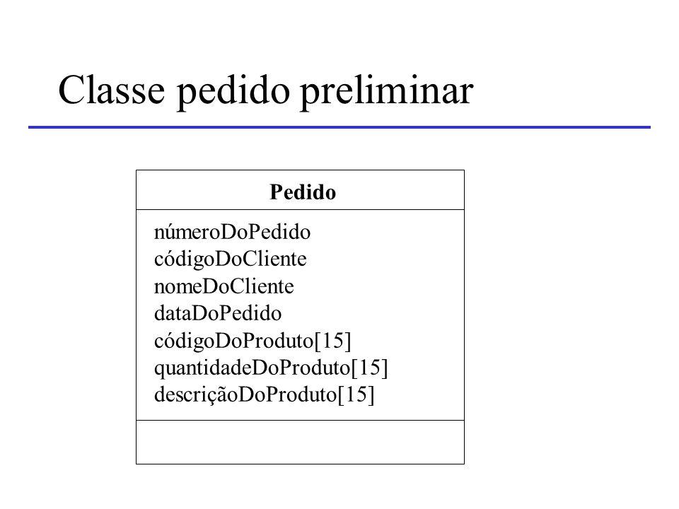 Classe pedido preliminar