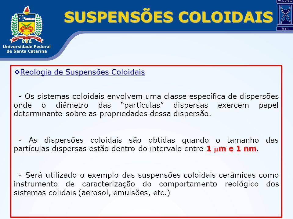 SUSPENSÕES COLOIDAIS Reologia de Suspensões Coloidais