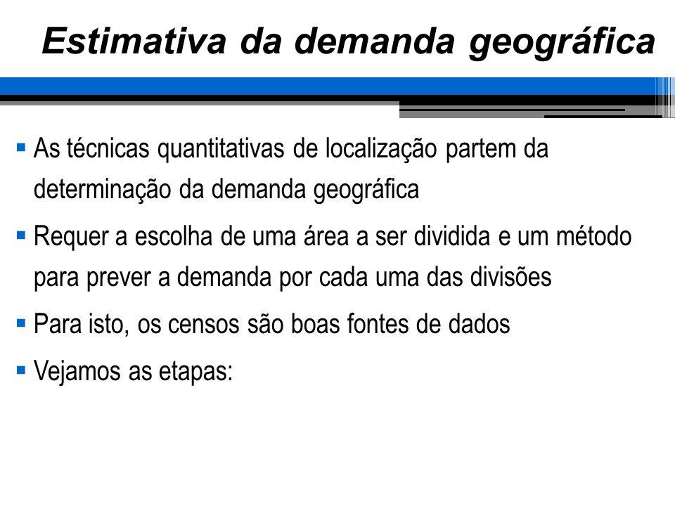 Estimativa da demanda geográfica