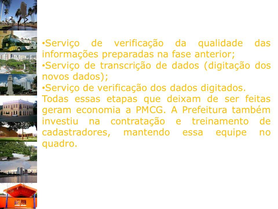 Serviço de verificação da qualidade das informações preparadas na fase anterior;