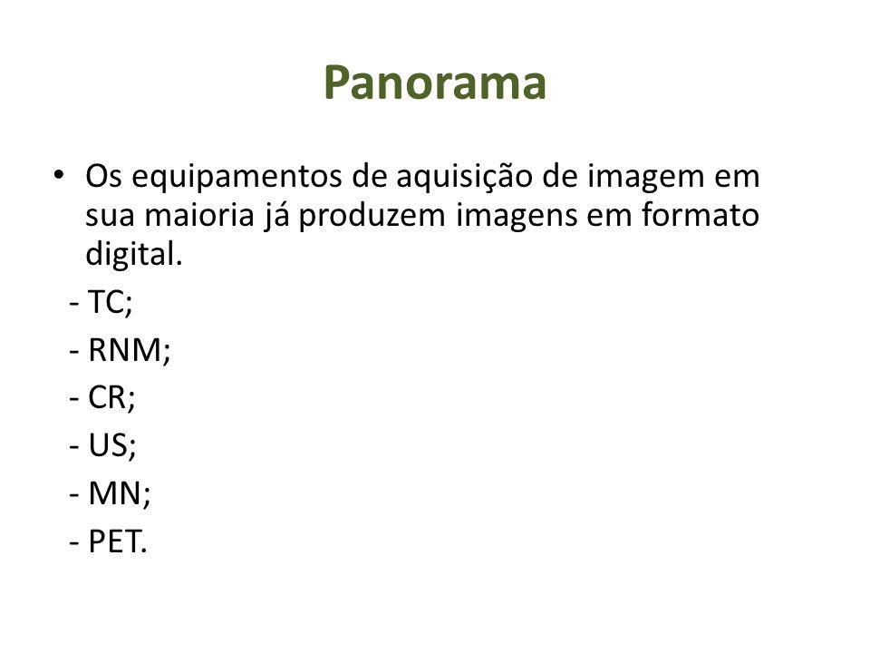 Panorama Os equipamentos de aquisição de imagem em sua maioria já produzem imagens em formato digital.
