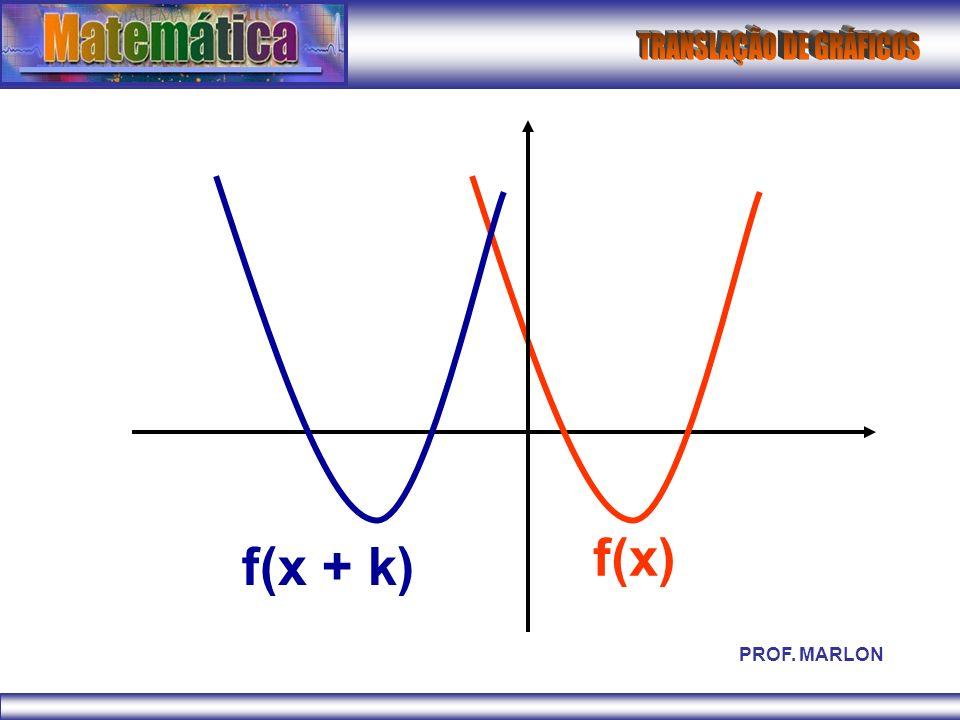 f(x) f(x + k) PROF. MARLON