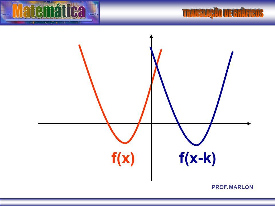 f(x) f(x-k) PROF. MARLON