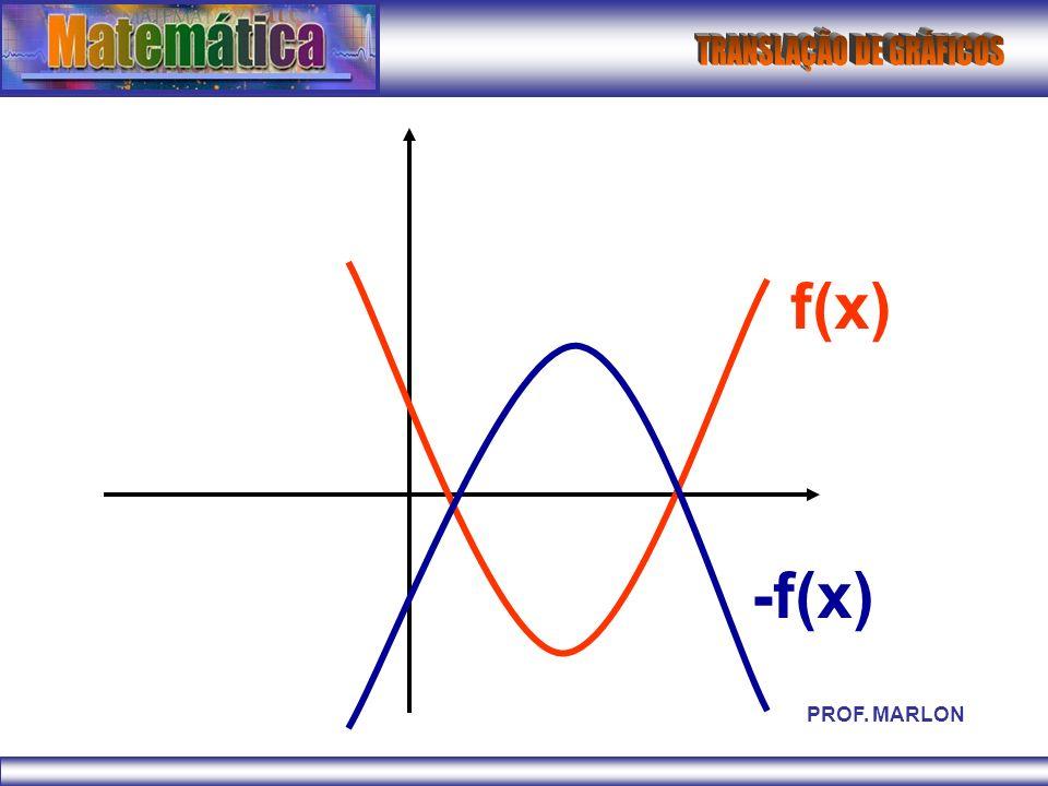 f(x) -f(x) PROF. MARLON