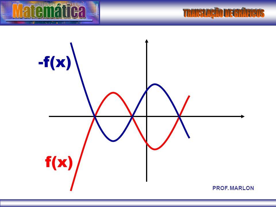 -f(x) f(x) PROF. MARLON