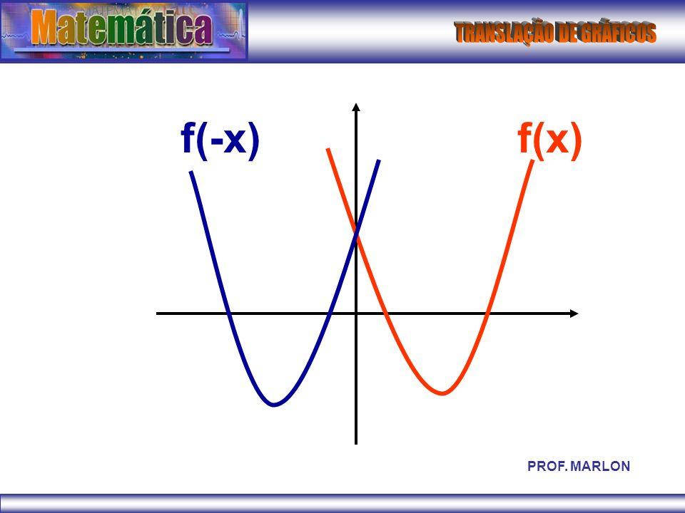 f(-x) f(x) PROF. MARLON