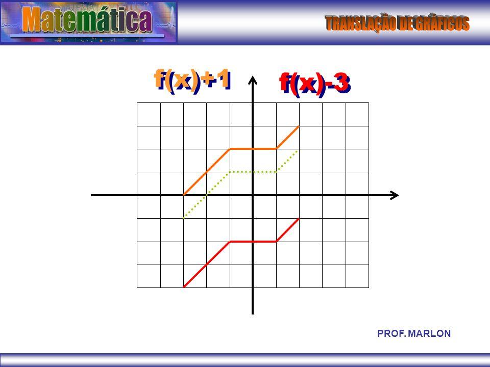 f(x)+1 f(x)-3 PROF. MARLON