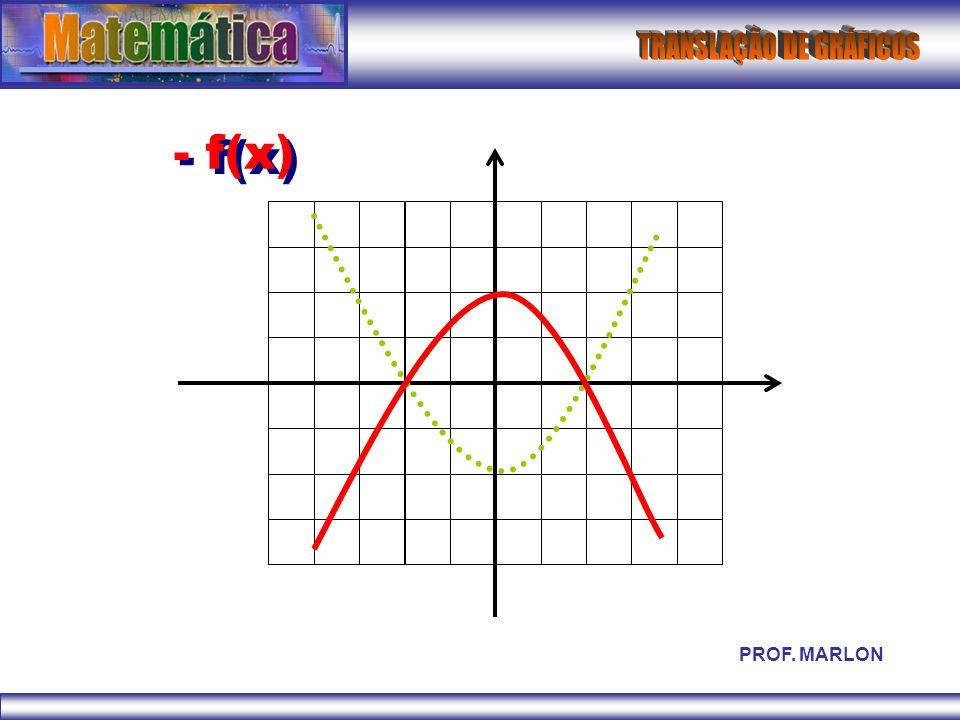- f(x) PROF. MARLON