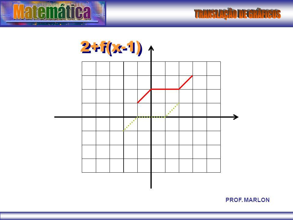 2+f(x-1) PROF. MARLON