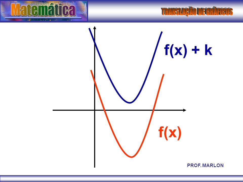 f(x) + k f(x) PROF. MARLON