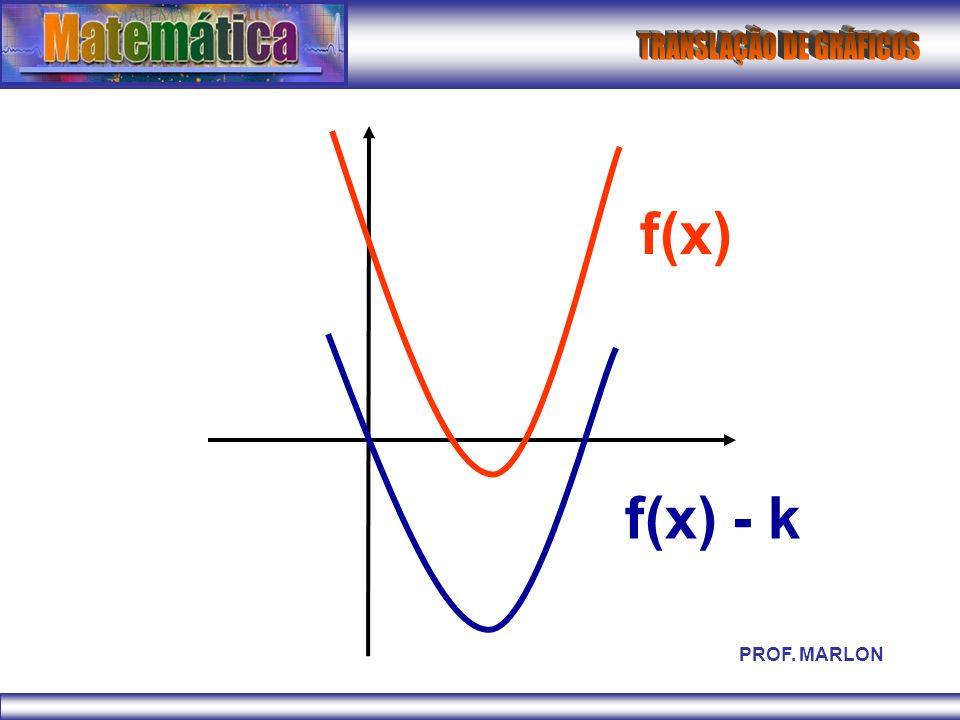 f(x) f(x) - k PROF. MARLON