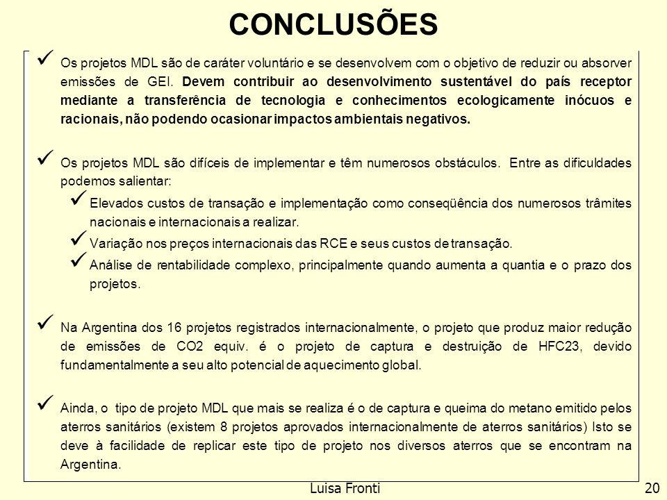 CONCLUSÕES Luisa Fronti 20