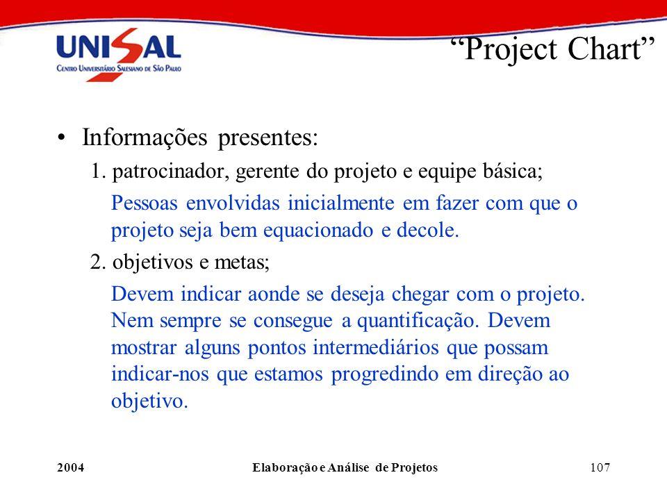 Elaboração e Análise de Projetos