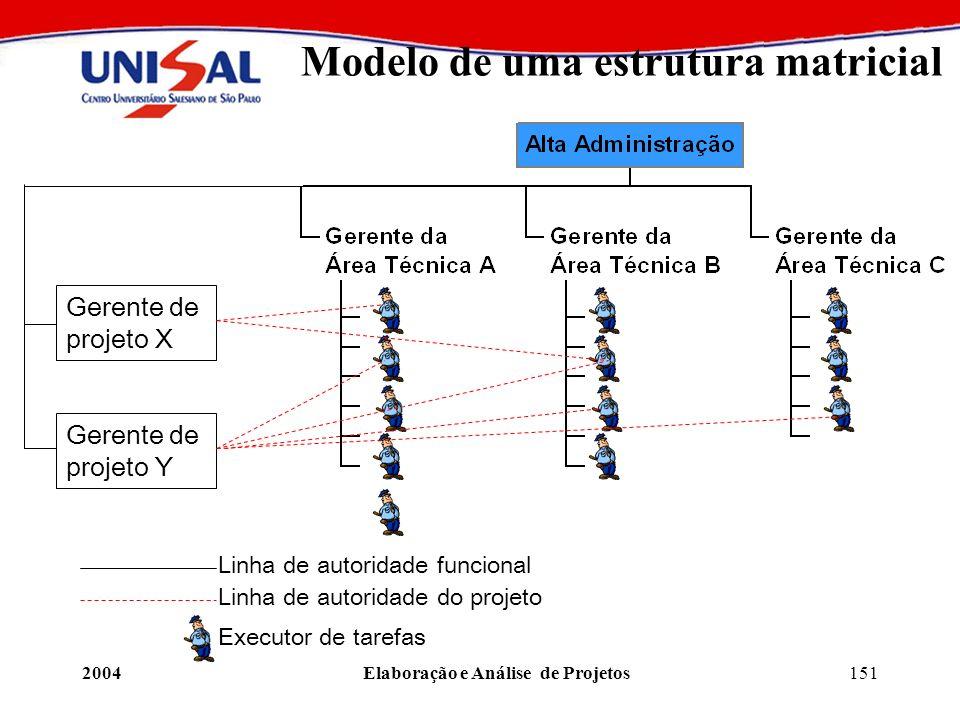 Modelo de uma estrutura matricial