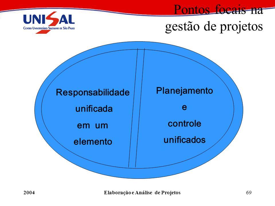 Pontos focais na gestão de projetos