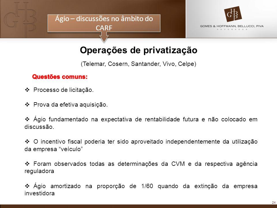 Operações de privatização