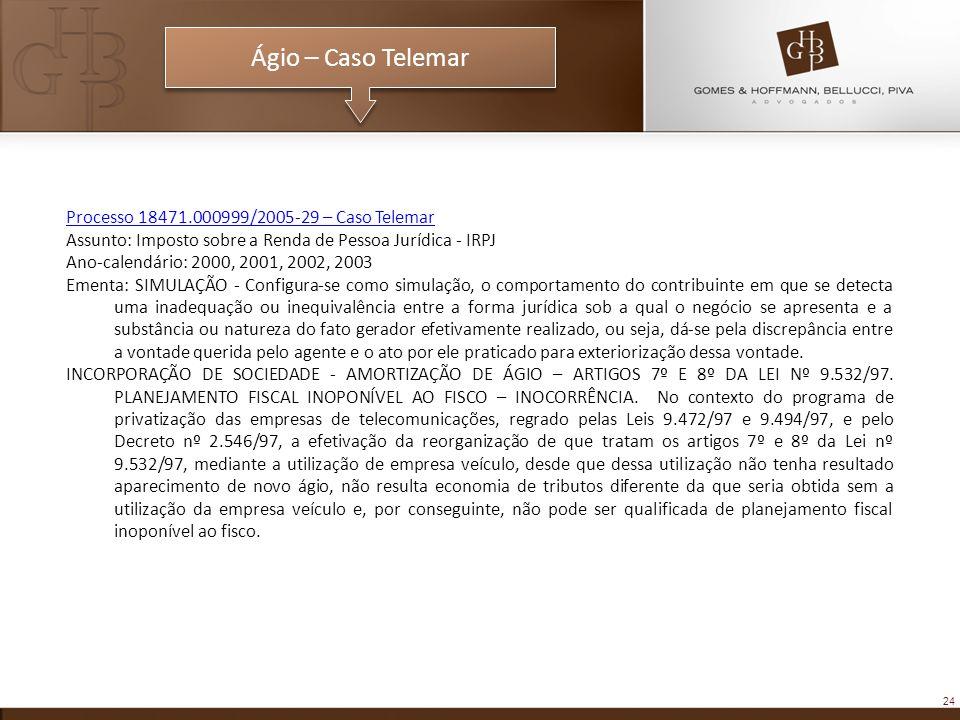 Ágio – Caso Telemar Processo 18471.000999/2005-29 – Caso Telemar