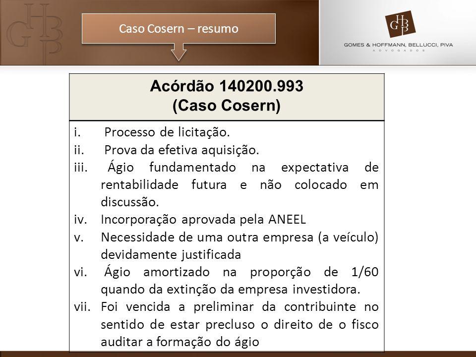 Acórdão 140200.993 (Caso Cosern) Processo de licitação.