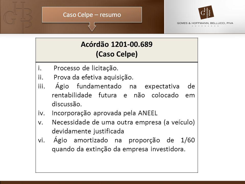 Acórdão 1201-00.689 (Caso Celpe) Processo de licitação.