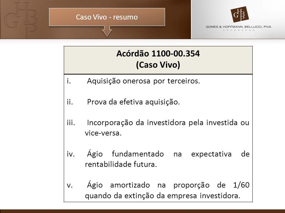 Acórdão 1100-00.354 (Caso Vivo) Aquisição onerosa por terceiros.