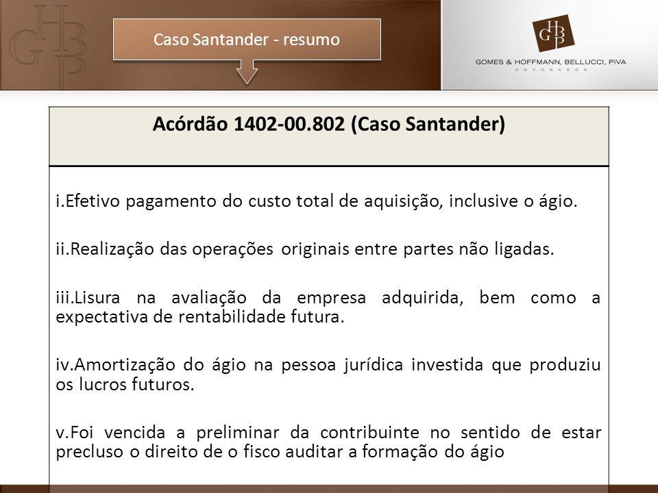 Acórdão 1402-00.802 (Caso Santander)