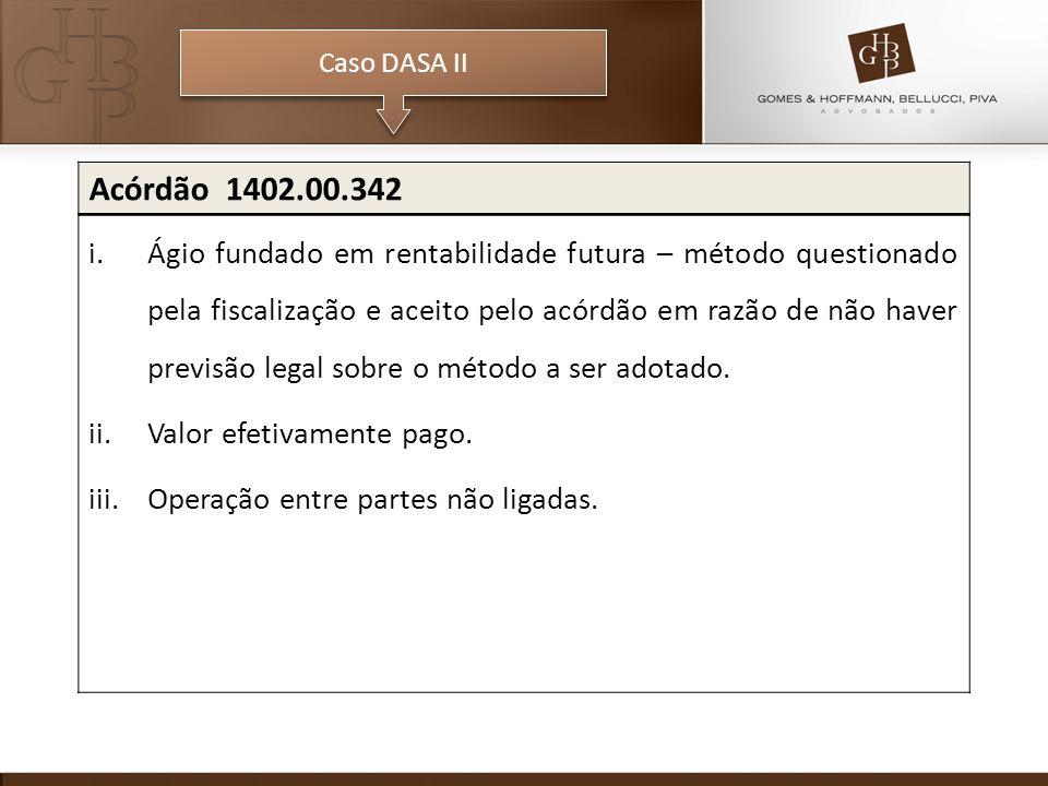 Caso DASA II Acórdão 1402.00.342.
