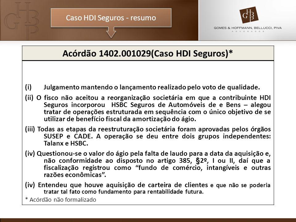 Acórdão 1402.001029(Caso HDI Seguros)*
