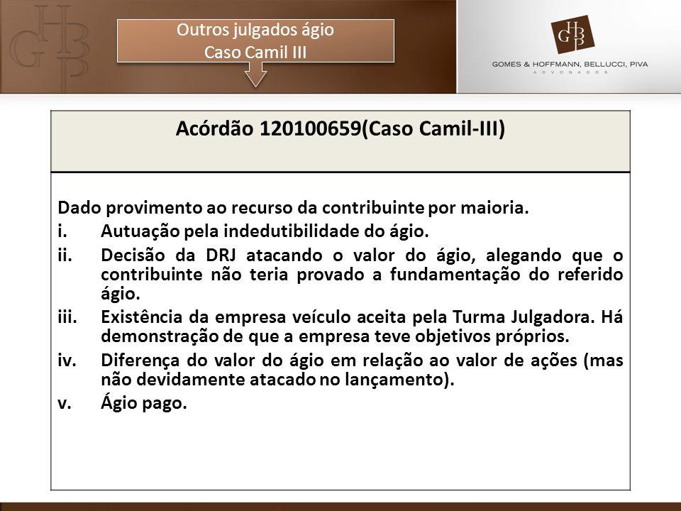Acórdão 120100659(Caso Camil-III)