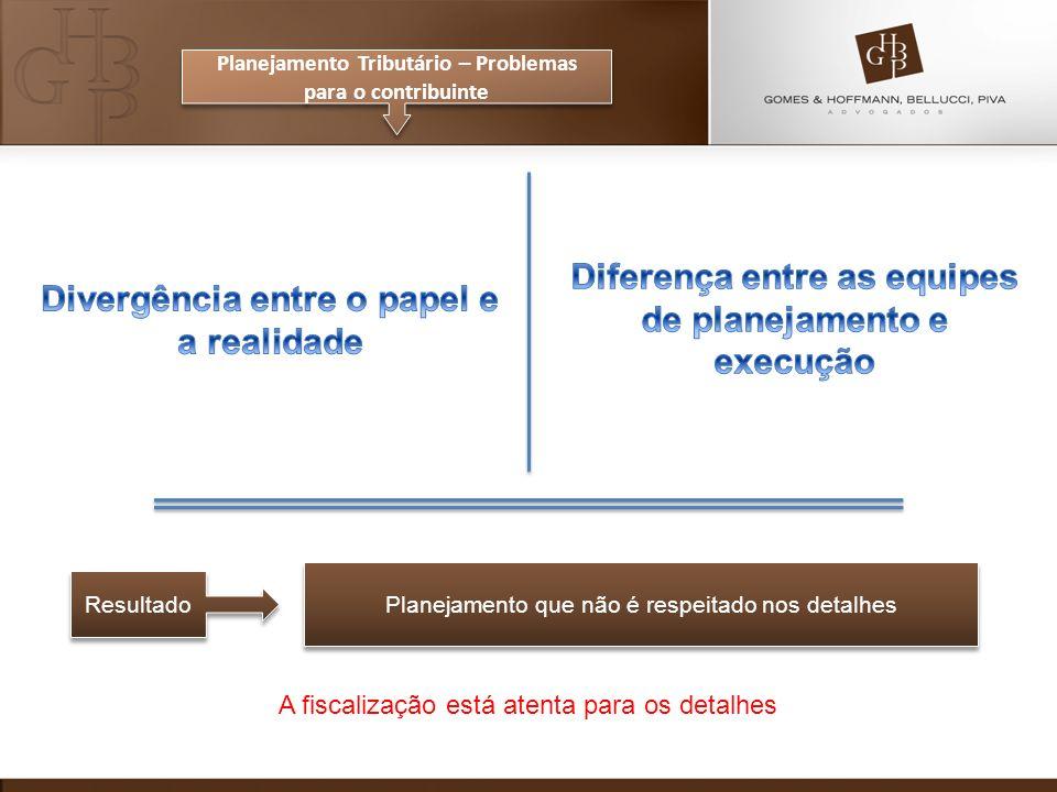 Diferença entre as equipes de planejamento e execução