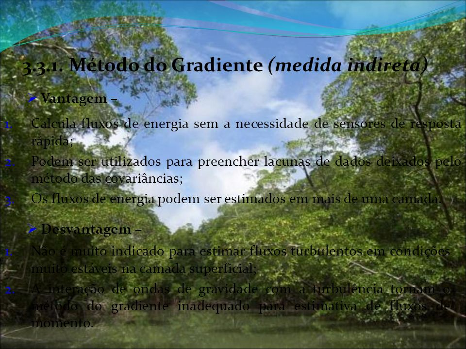 3.3.1. Método do Gradiente (medida indireta)