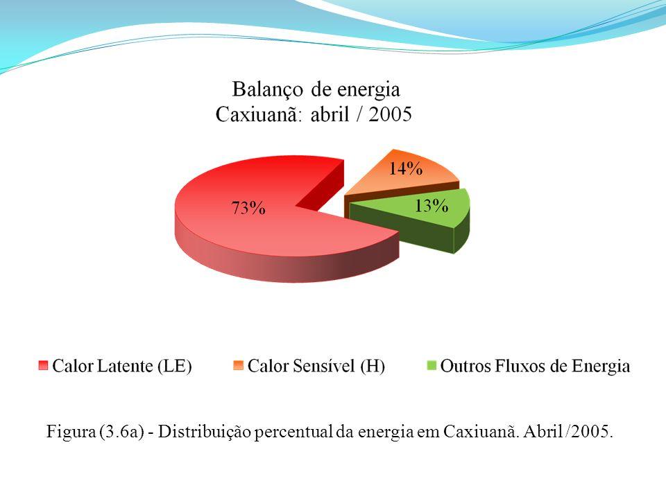 Figura (3. 6a) - Distribuição percentual da energia em Caxiuanã