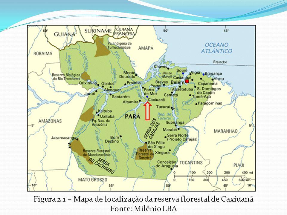 Figura 2.1 – Mapa de localização da reserva florestal de Caxiuanã