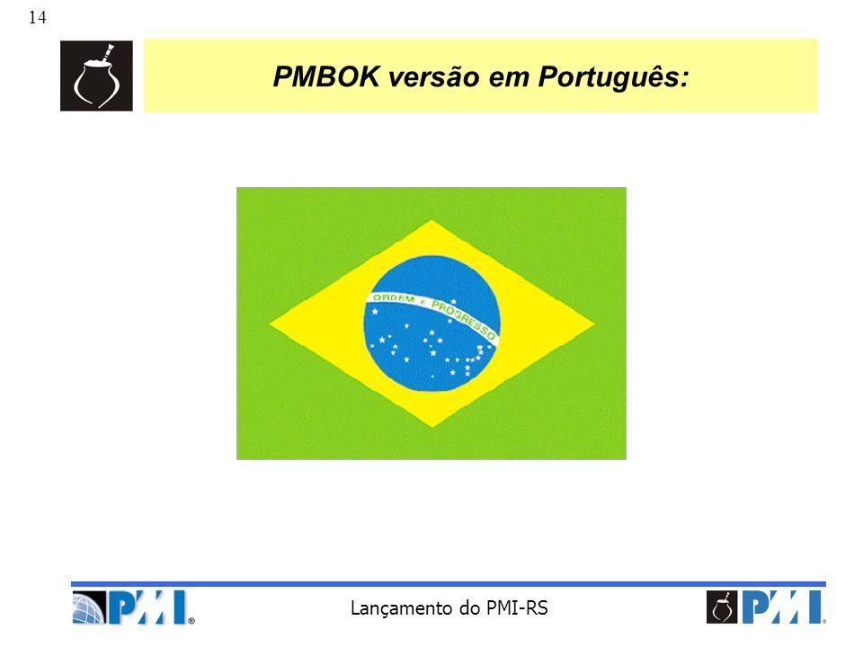 PMBOK versão em Português: