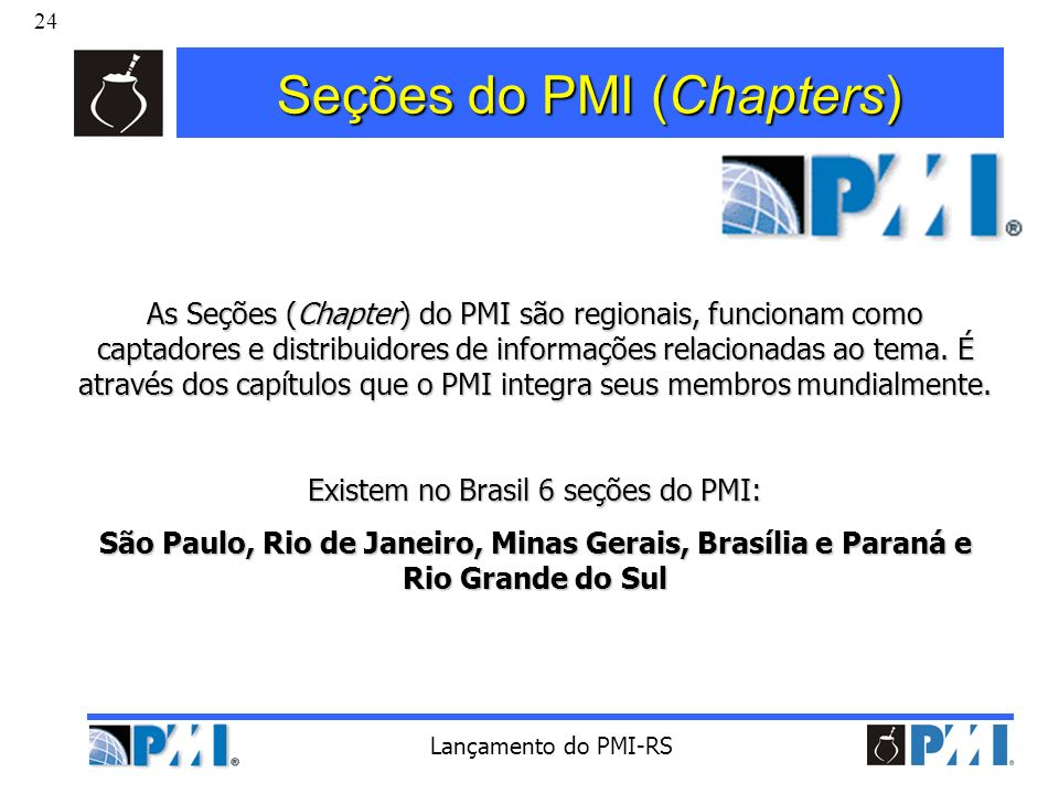Seções do PMI (Chapters)
