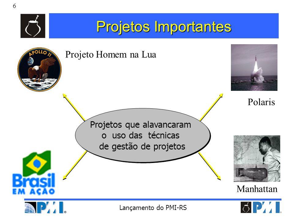 Projetos que alavancaram o uso das técnicas de gestão de projetos