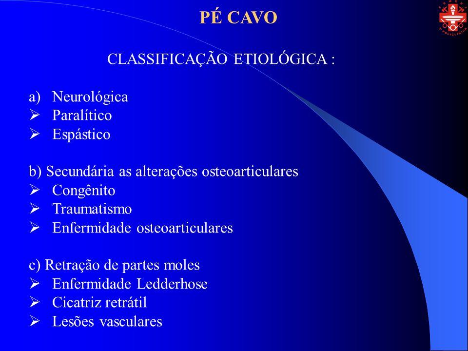 CLASSIFICAÇÃO ETIOLÓGICA :