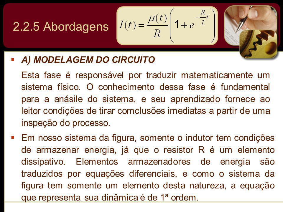 2.2.5 Abordagens A) MODELAGEM DO CIRCUITO