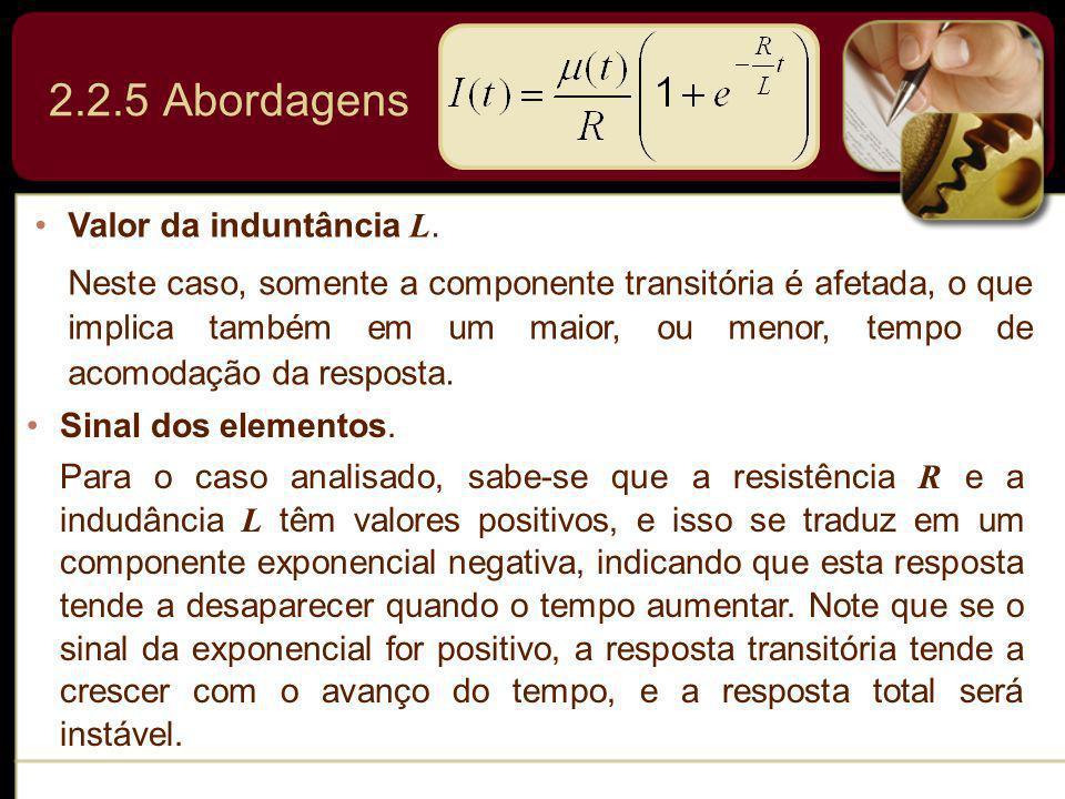 2.2.5 Abordagens Valor da induntância L.