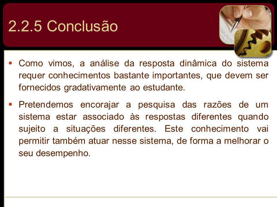 2.2.5 Conclusão