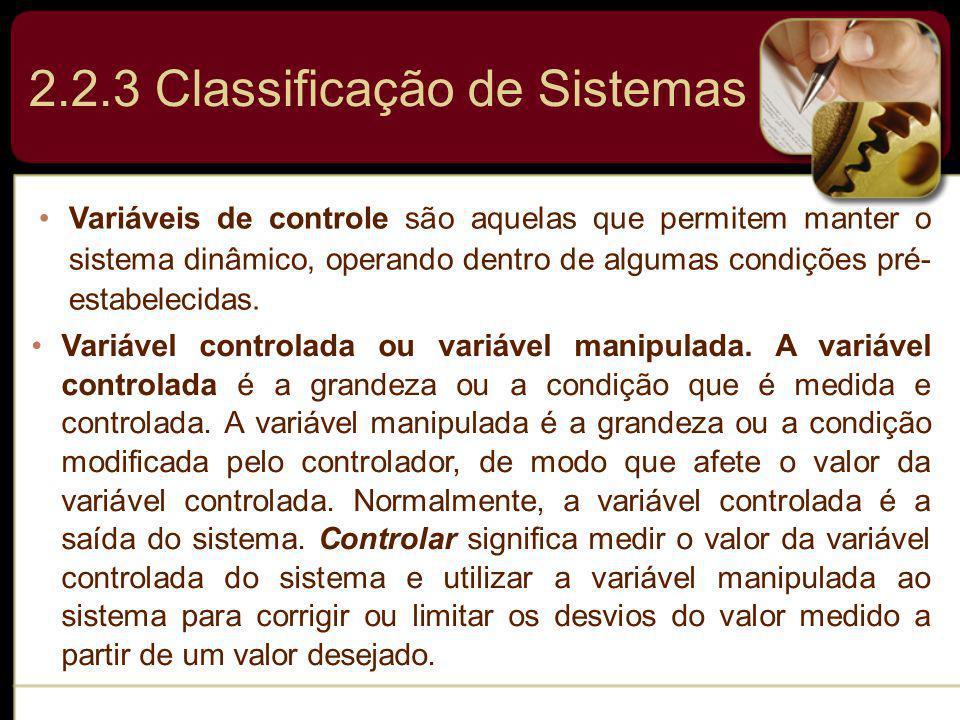2.2.3 Classificação de Sistemas