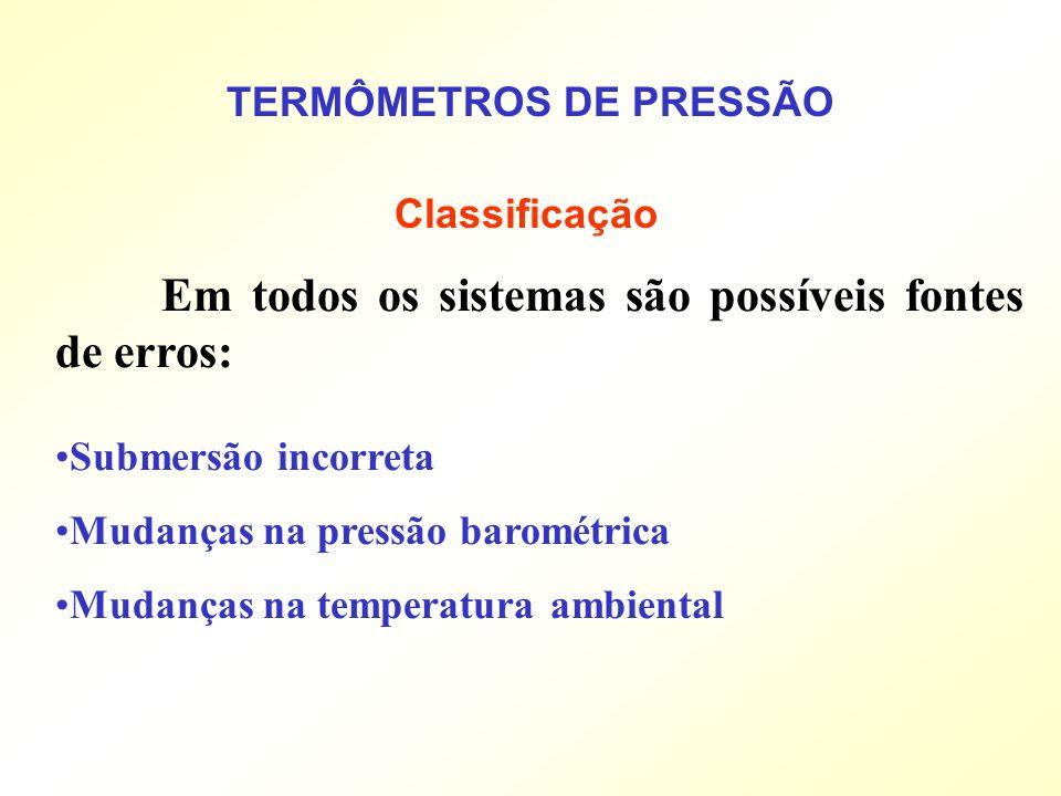 TERMÔMETROS DE PRESSÃO