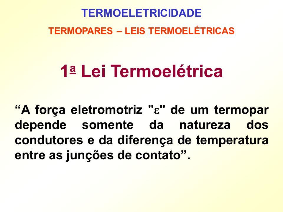 TERMOPARES – LEIS TERMOELÉTRICAS