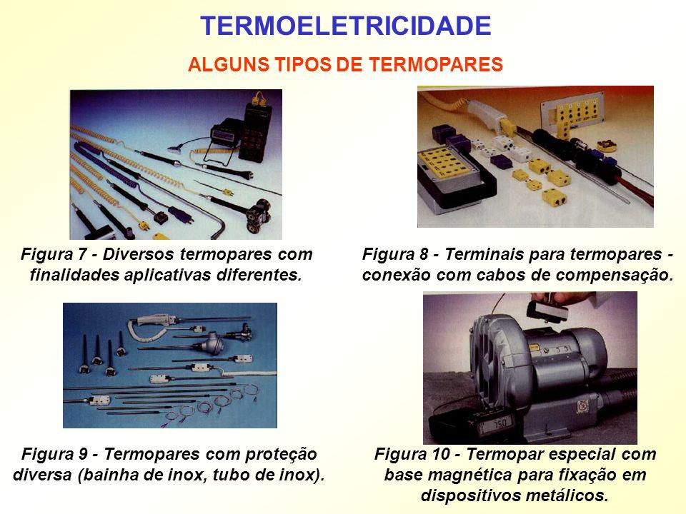 TERMOELETRICIDADE ALGUNS TIPOS DE TERMOPARES