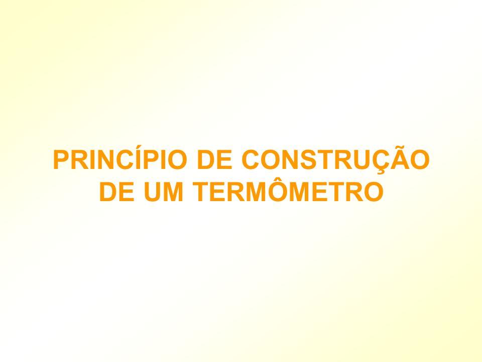 PRINCÍPIO DE CONSTRUÇÃO DE UM TERMÔMETRO