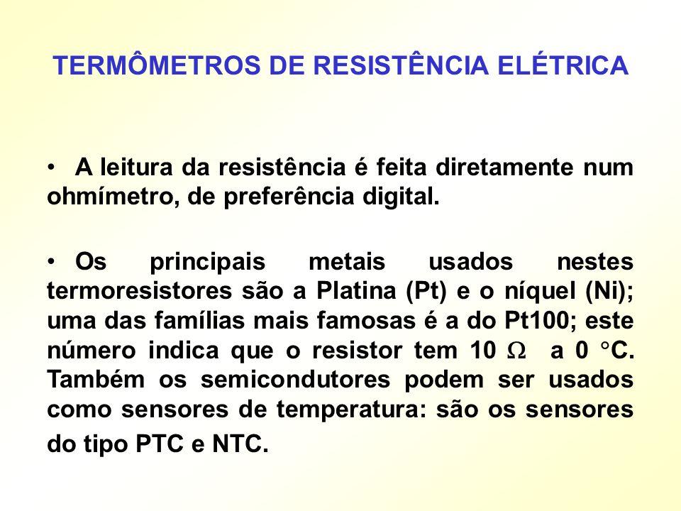 TERMÔMETROS DE RESISTÊNCIA ELÉTRICA